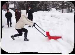雪降ろし・除雪体験